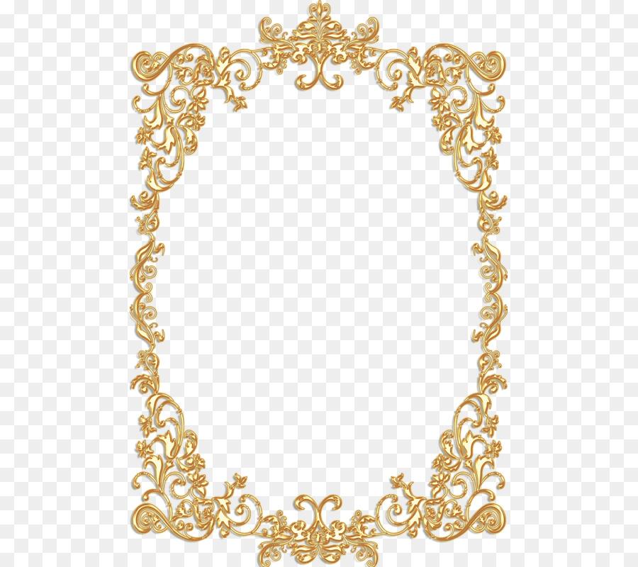 Picture Frames Gold Vintage Ornament Clip art - islamic frame png ...