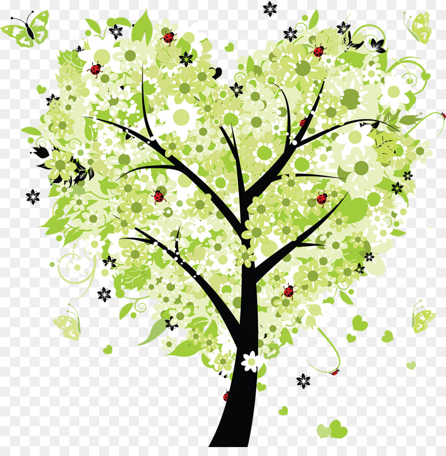 Heart Tree Clip art - heart tree png download - 1198*1200 - Free ...