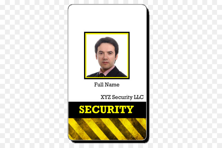 Badge Template Security guard Identity document id card png
