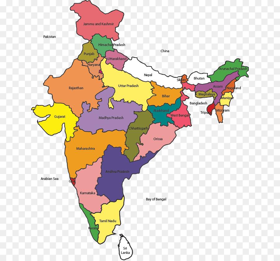 India Map Clip Art India Png Download 700 838 Free Transparent