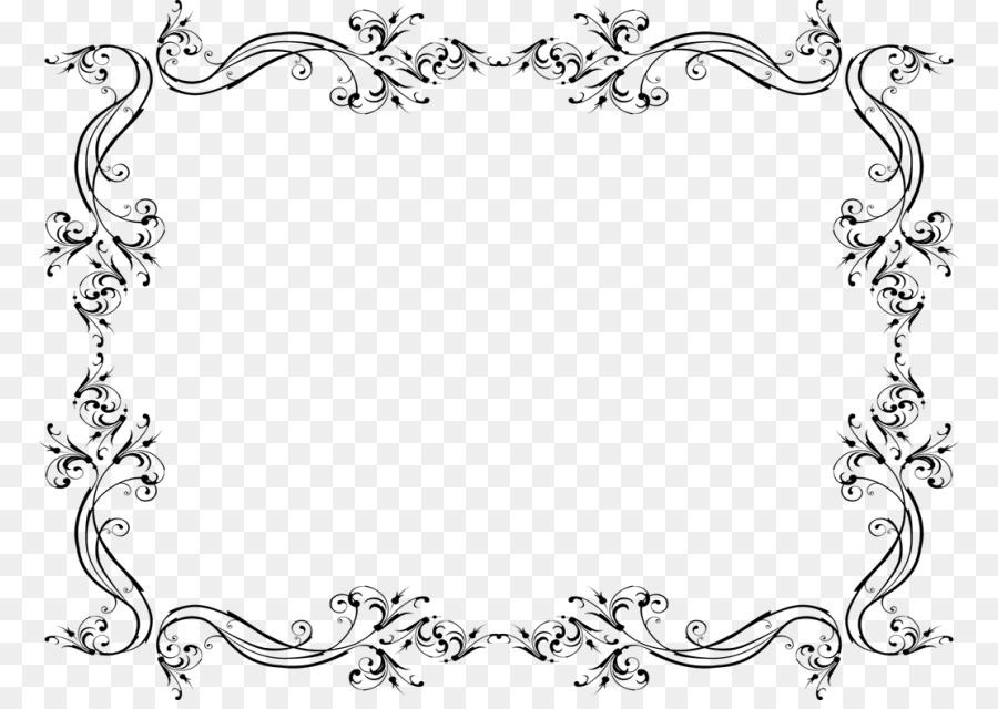 Wedding invitation Clip art - border wedding png download - 830*632 ...