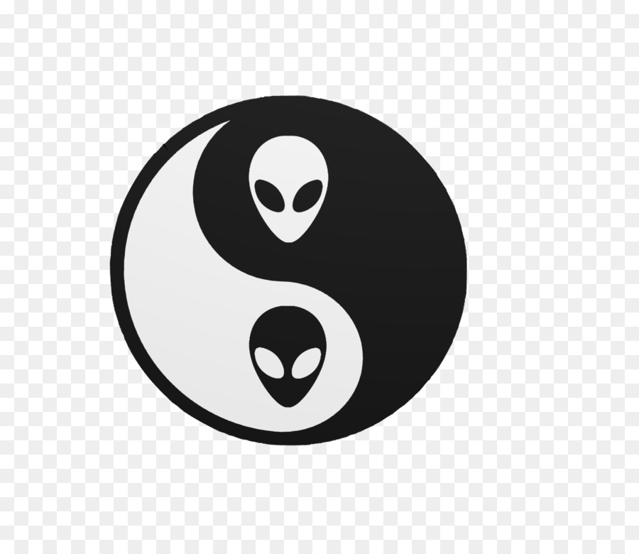 Yin And Yang Vaporwave Unidentified Flying Object Yin Yang Png