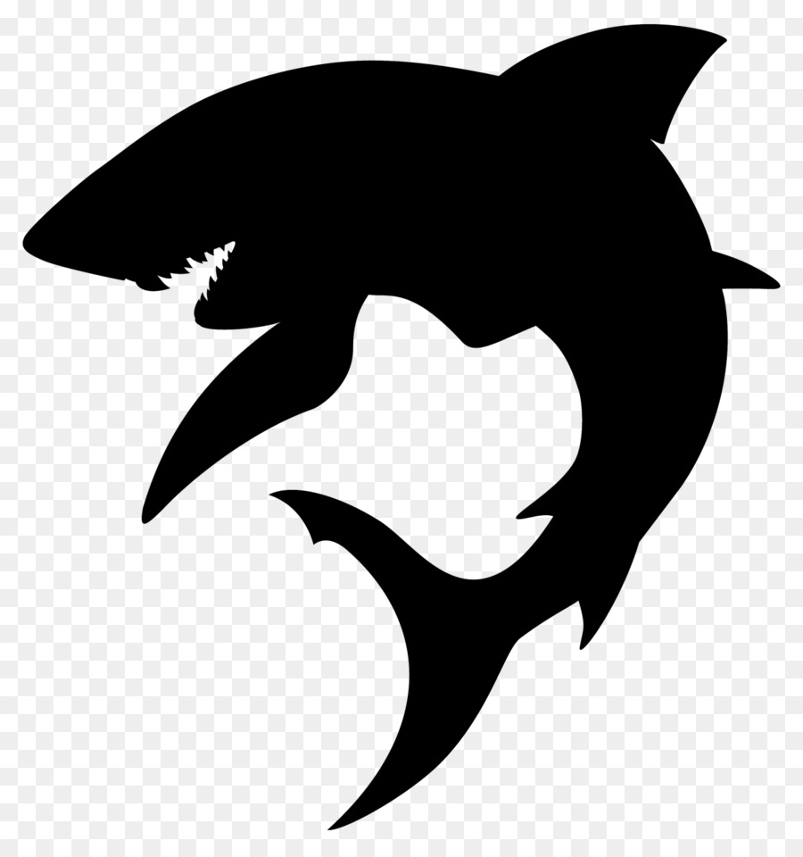 Shark Silhouette Clip art - sharks png download - 1300 ...