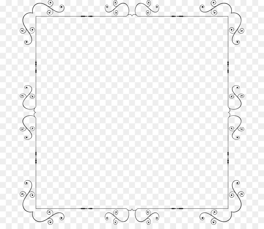 Art Nouveau Borders and Frames Ornament Clip art - decorative frame ...
