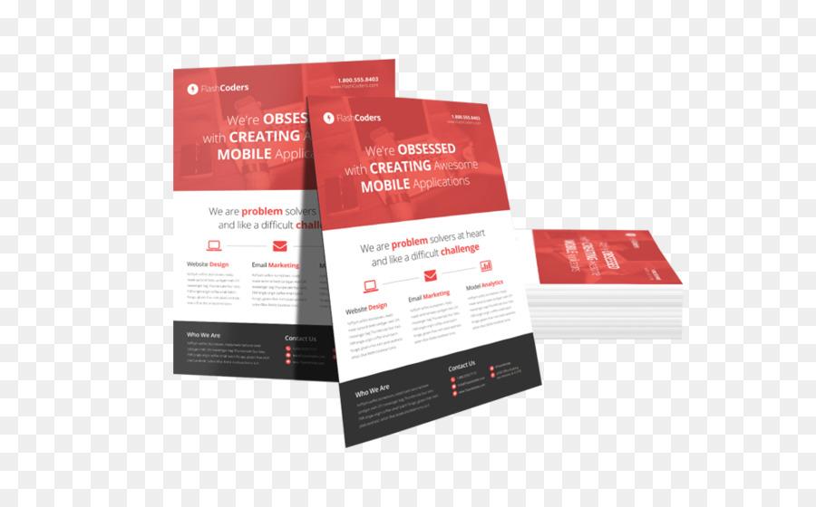 Flyer Brochure Flat design Advertising - VISITING CARD png download ...