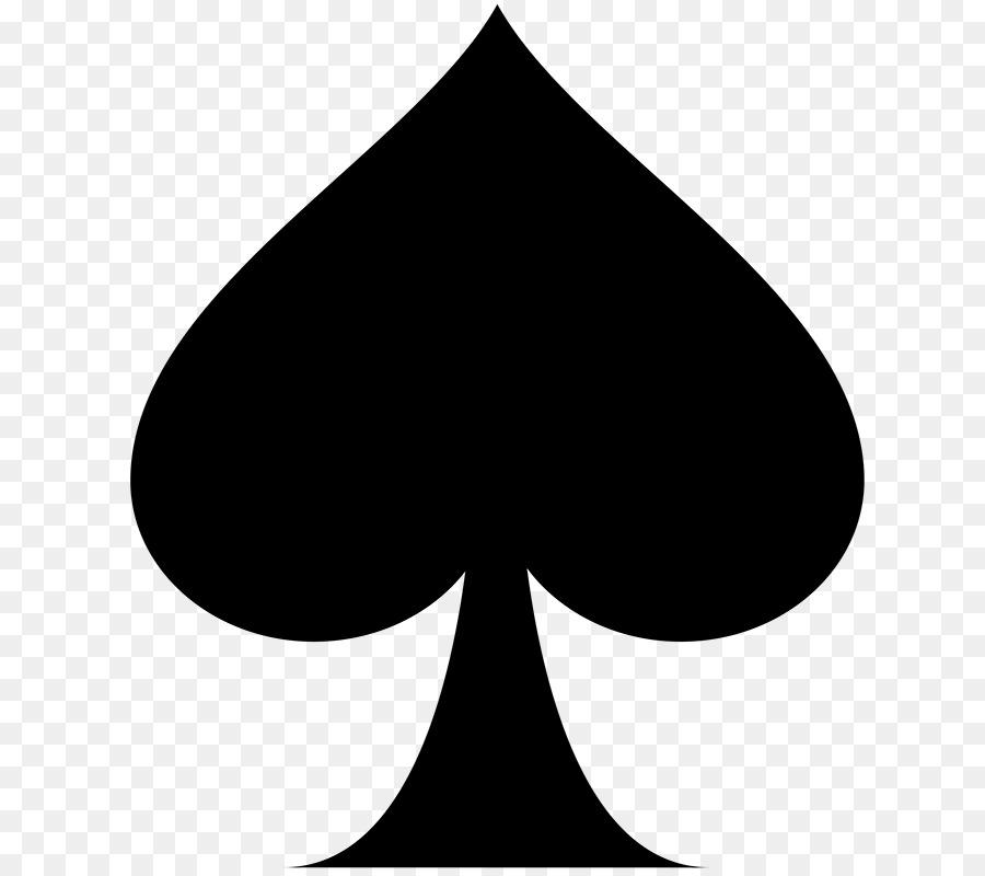 pik karte Spielen Kartenfarbe Pik Ass Karte Spiel   schwarz png