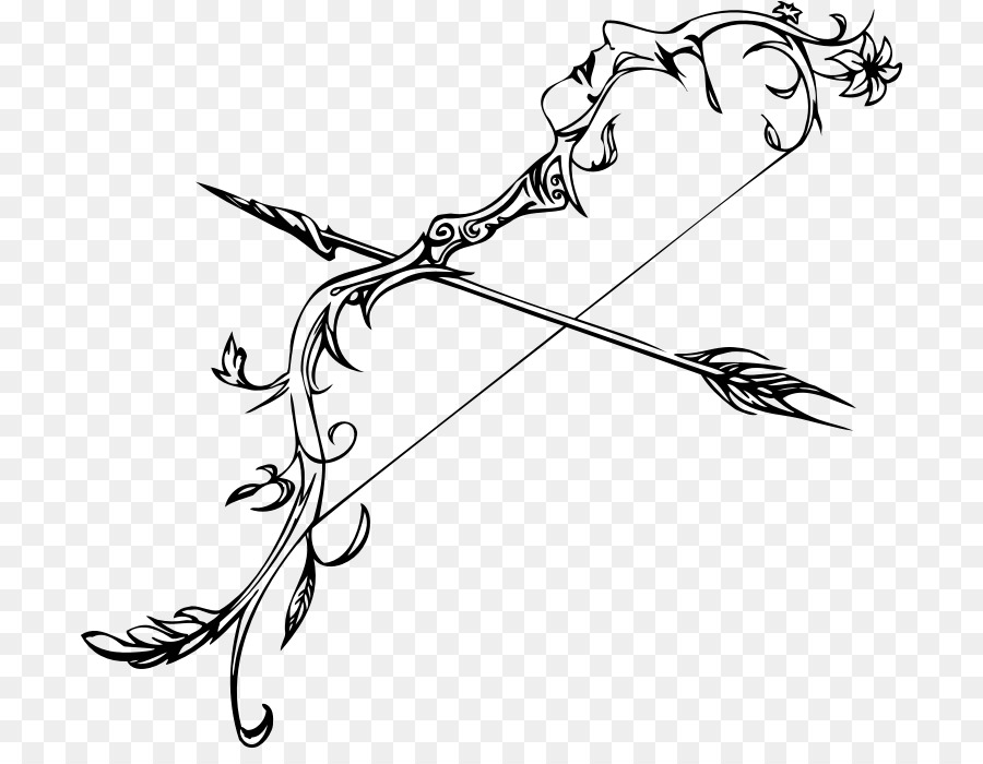 bow and arrow drawing line art arrow bow png download 754 686