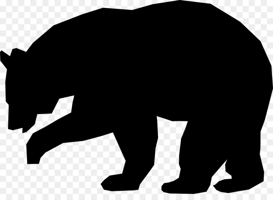 american black bear brown bear silhouette clip art bears png rh kisspng com clip art bears in love clip art bear paw