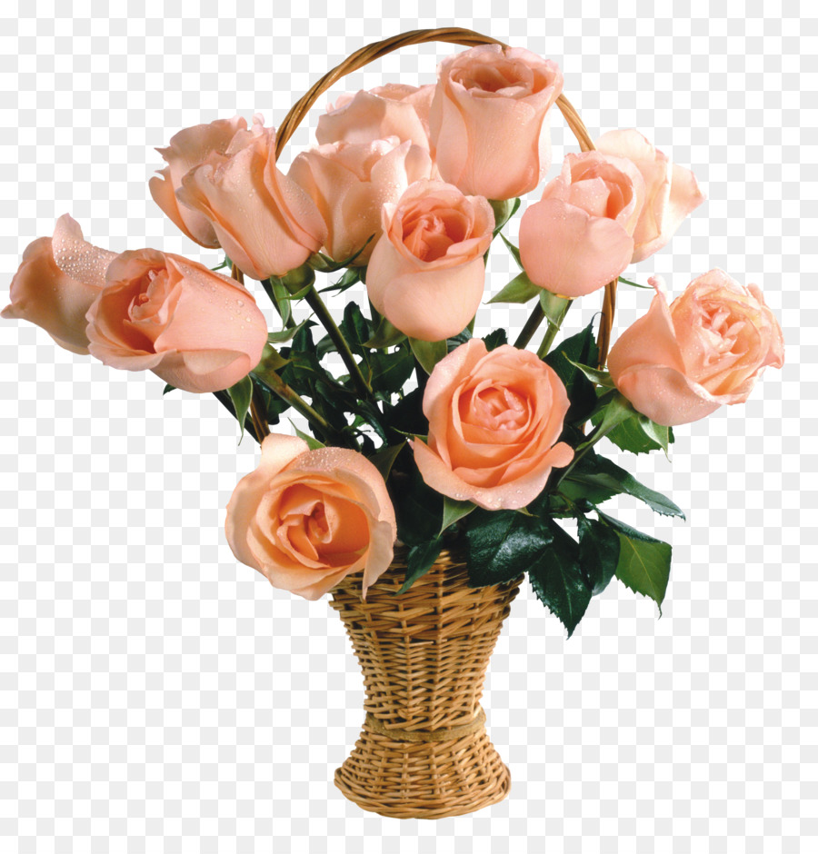 Flower Bouquet Garden Roses Flower Delivery Basket Gif Png