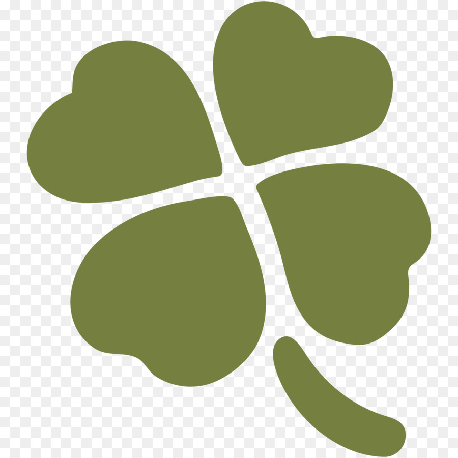 Emoji Four Leaf Clover Iphone Text Messaging Sms Clover Png