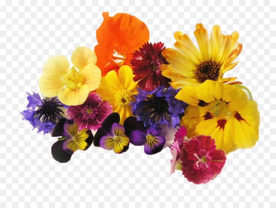 Edible flower Cut flowers Organic food Salad - flawer png download ...