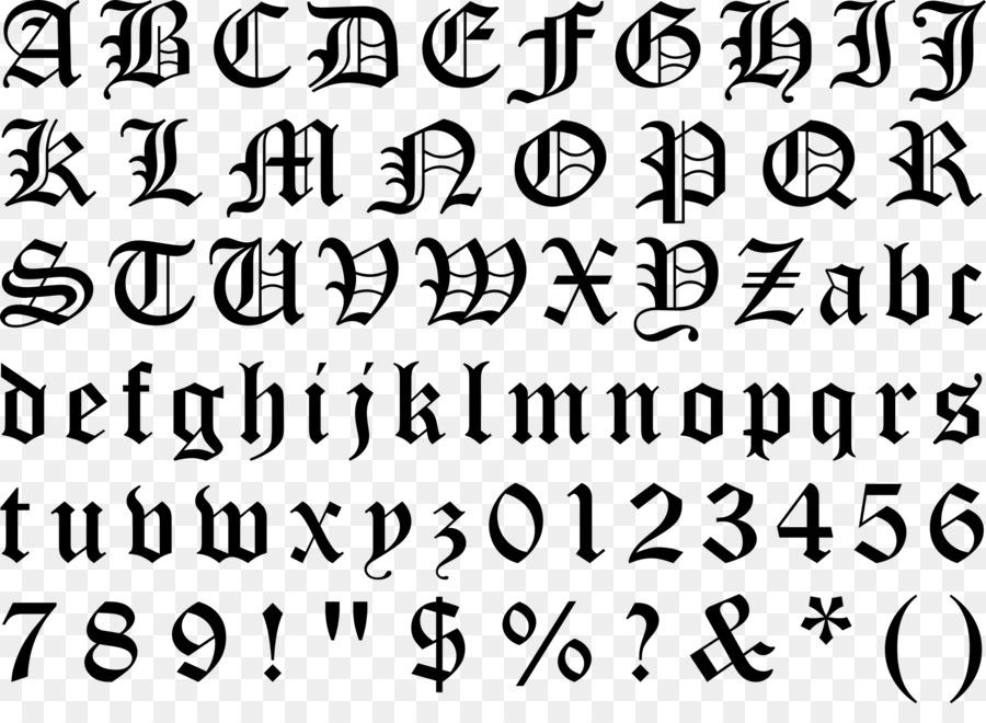 Blackletter Typeface Gothic Alphabet Font