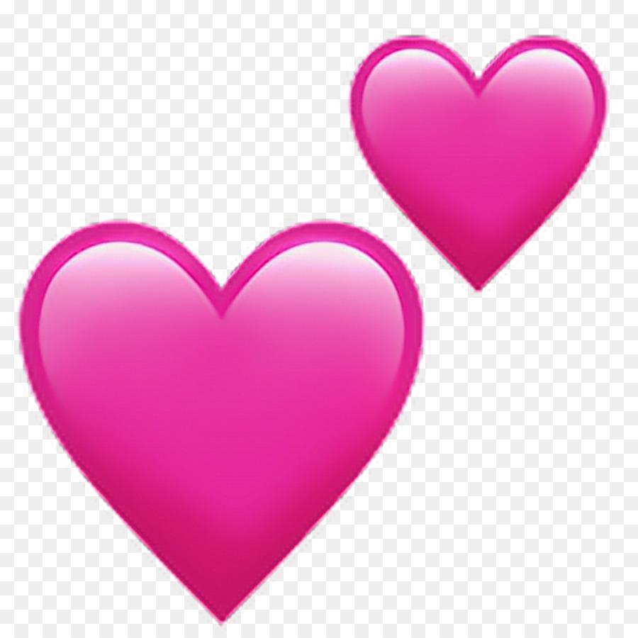 Emoji Heart Symbol Love Pink Hearts Png Download 10241024