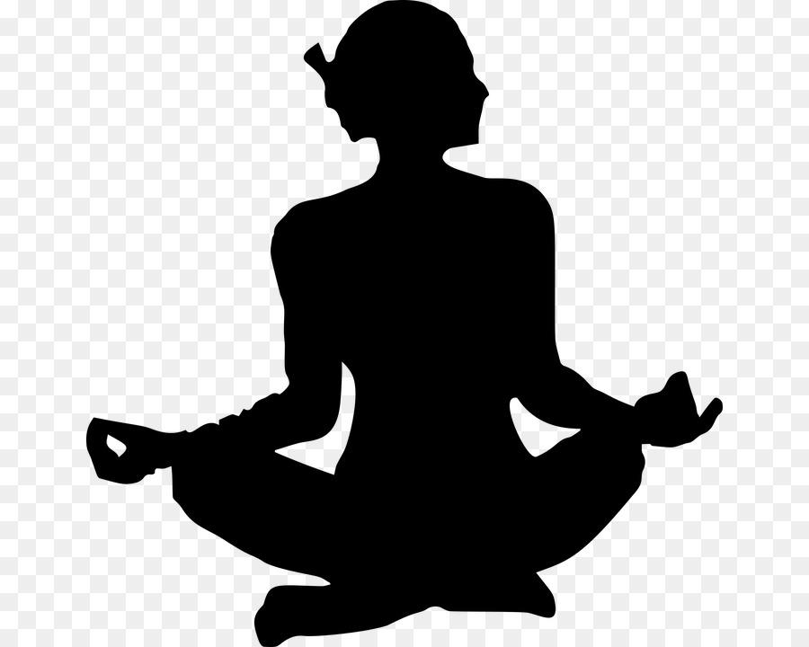 Yoga Lotus Position Silhouette Asento Clip Art