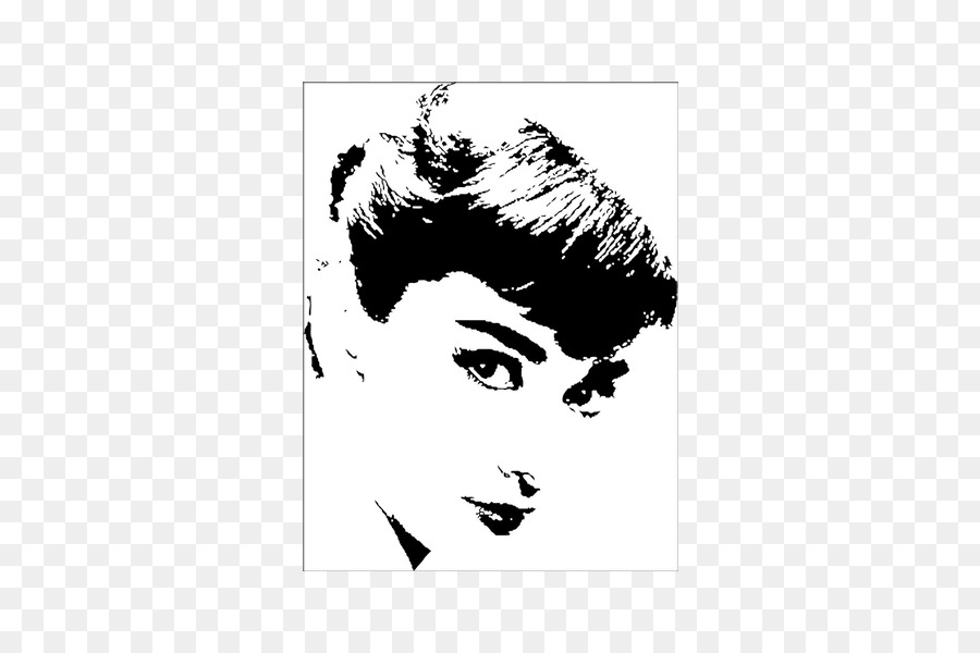 Pop art Black and white Painting Photography - wall decal png ...