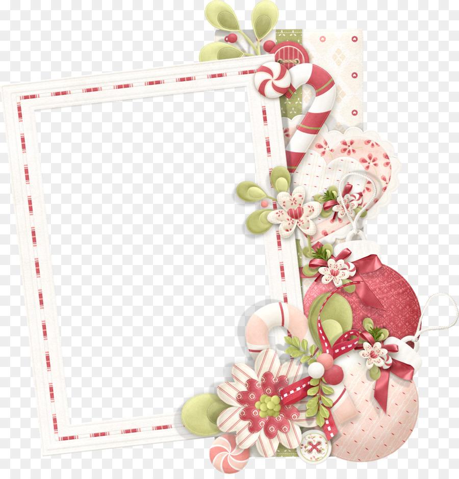 Marcos de fotos de Navidad de Flor de Clip art - el amor de marco ...
