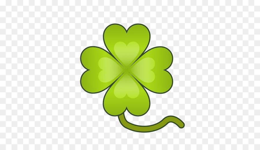 Four Leaf Clover Symbol Emoji Shamrock Clover Png Download 512