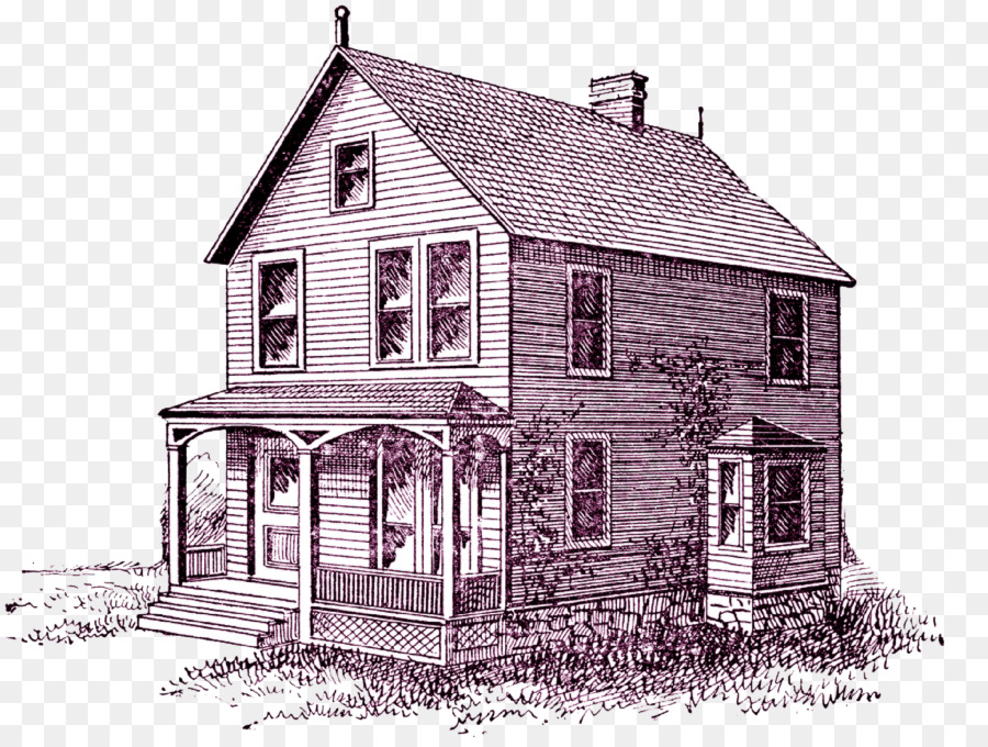 House Drawing Porch Clip Art
