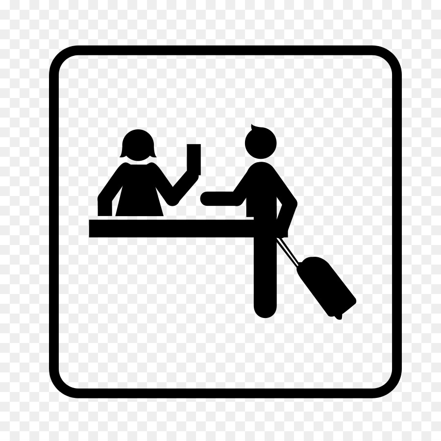 Hotel Check In Receptionist Clip Art