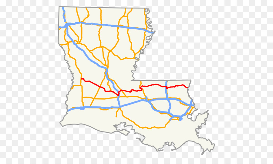 US Route 90 in Louisiana Interstate 10 Louisiana Highway 1 Map