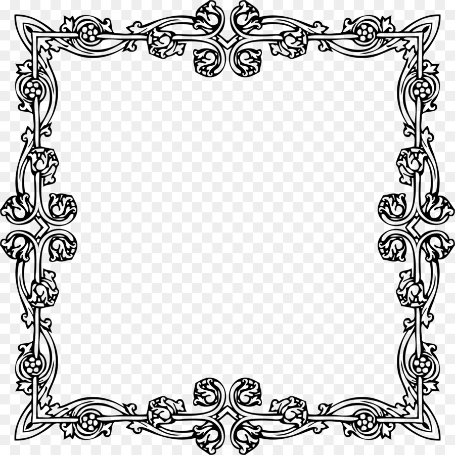 Victorian Era Picture Frames Border Wedding Png Download