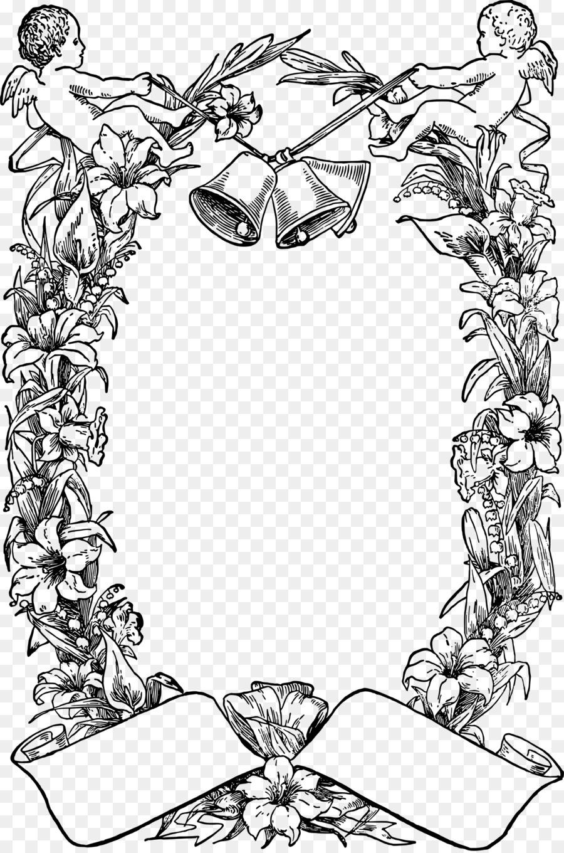 Línea de Dibujo artístico de Clip art - la pascua marco Formatos De ...