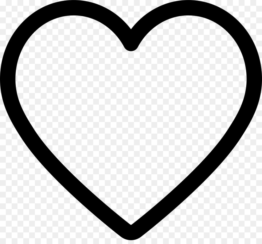 Heart Shape Clip Art White Heart Png Download 980900 Free
