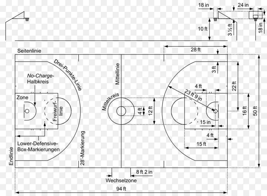 diagram drawing basketball court fiba basketball court png