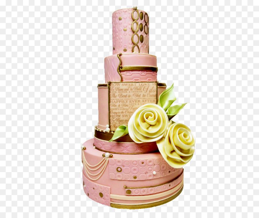 Wedding cake Torte Frosting & Icing Cake decorating - PINK CAKE png ...