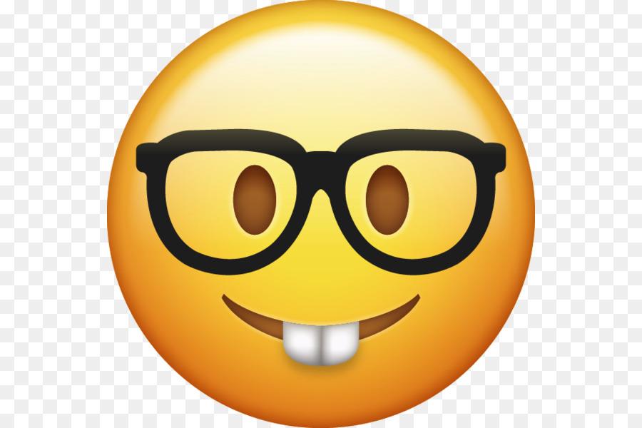 Emoji Iphone Smiley Nerd Sticker Nerd Png Download 600