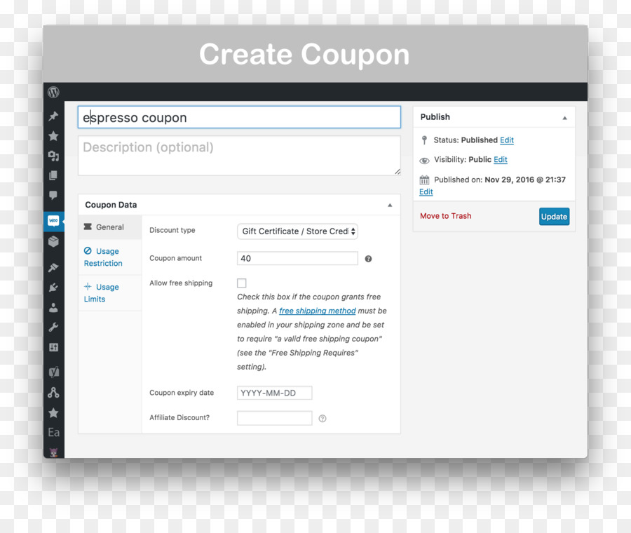 Gift Card Woocommerce Computer Software Coupon Certificate Png