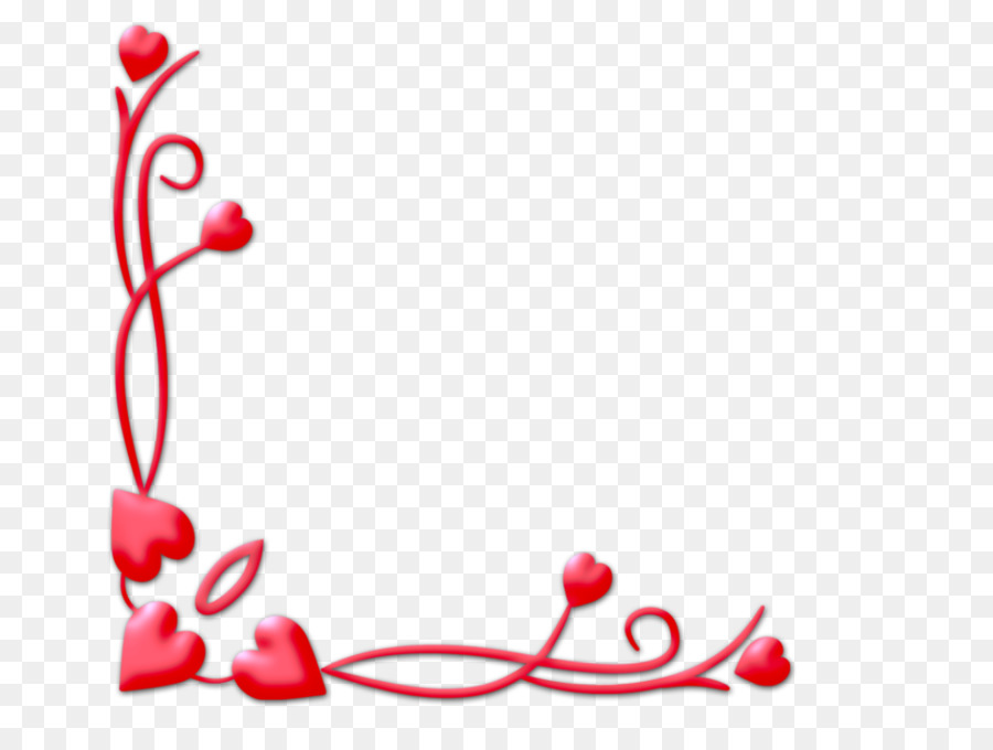 Borders and Frames Heart Clip art - love background png download ...