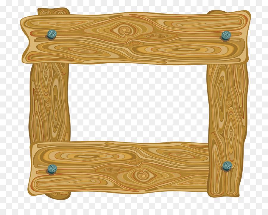 Picture Frames Wood Clip art - wooden frame png download - 800*703 ...