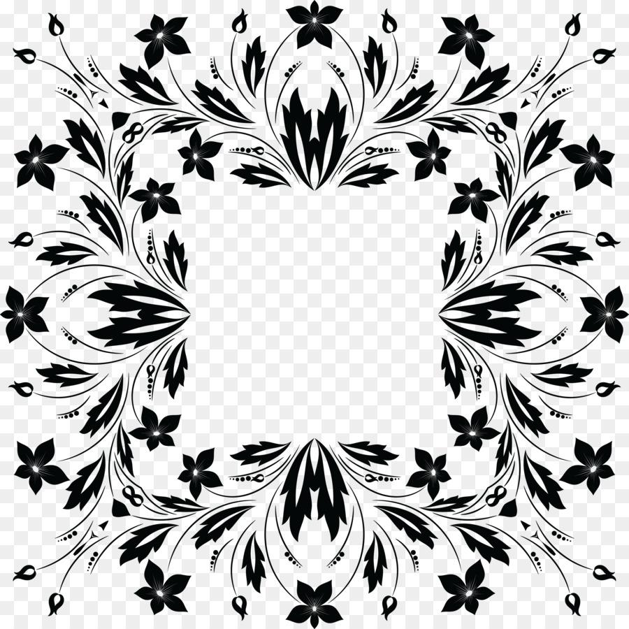 Floral Design Flower Clip Art Flower Black Png Download 4000