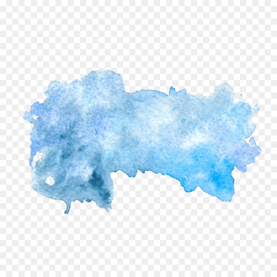blue paper watercolor painting watercolour png download