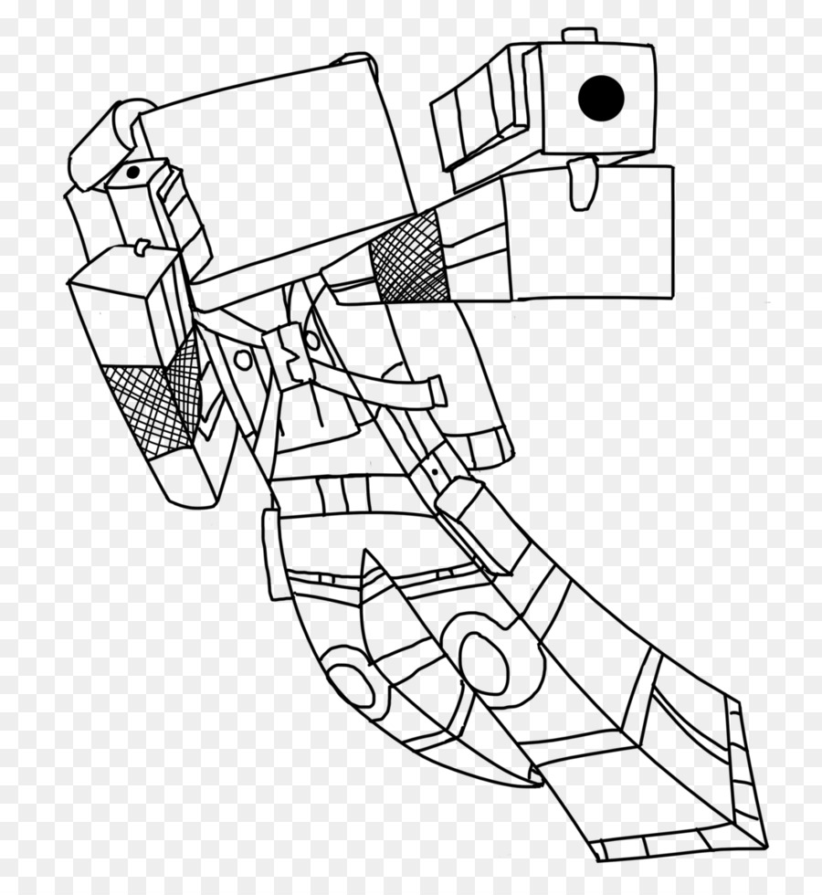 Minecraft Coloring Book Roblox Herobrine Sheet Png Download 818