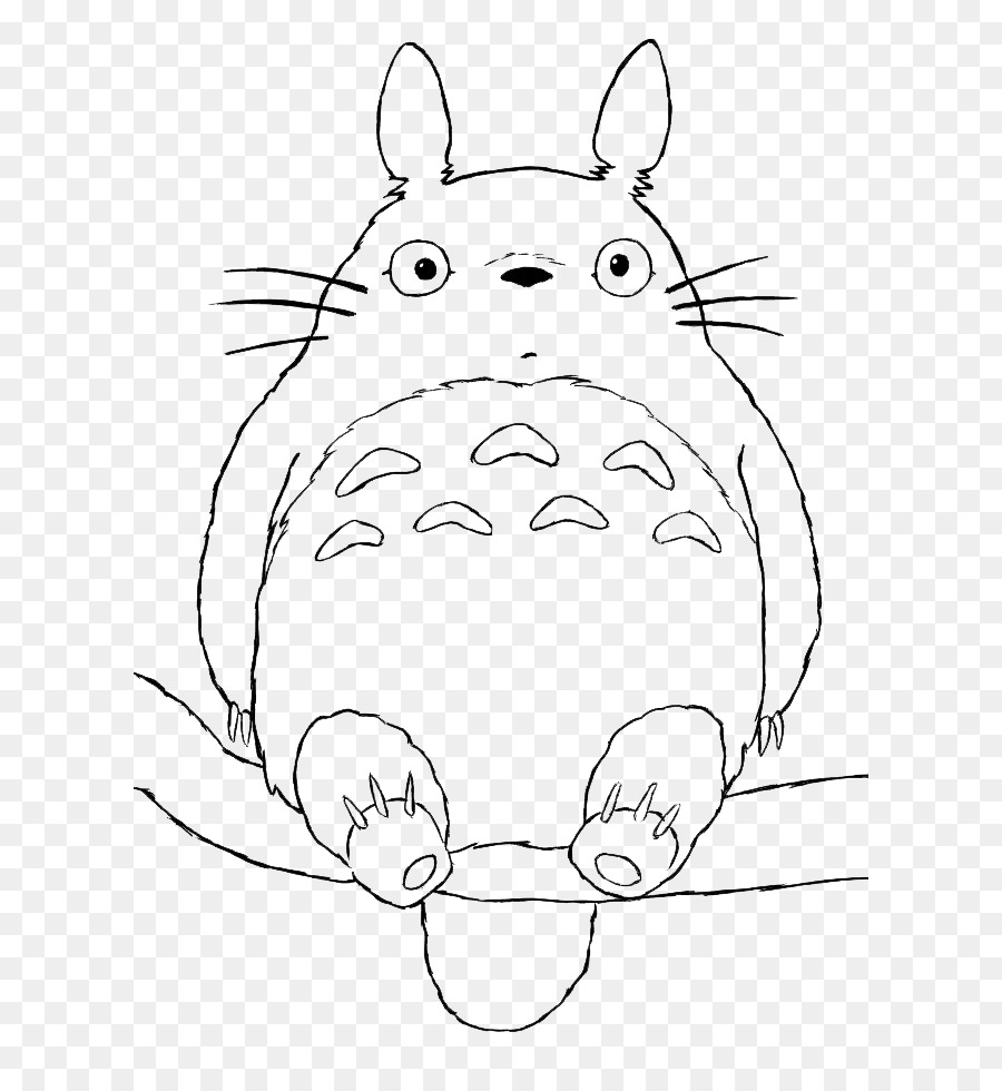 Coloring Book Drawing Doodle Adult Totoro Png Download 660962