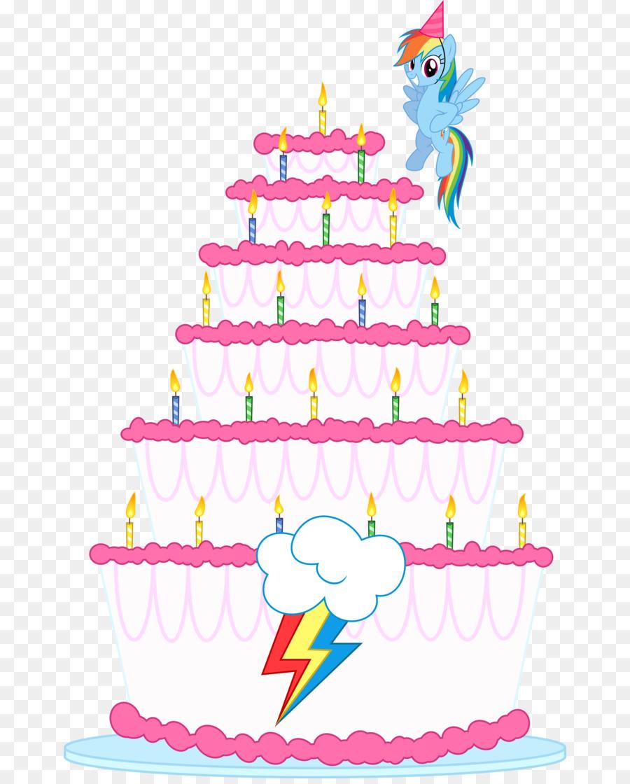 Birthday Cake Rainbow Dash Pony Pinkie Pie