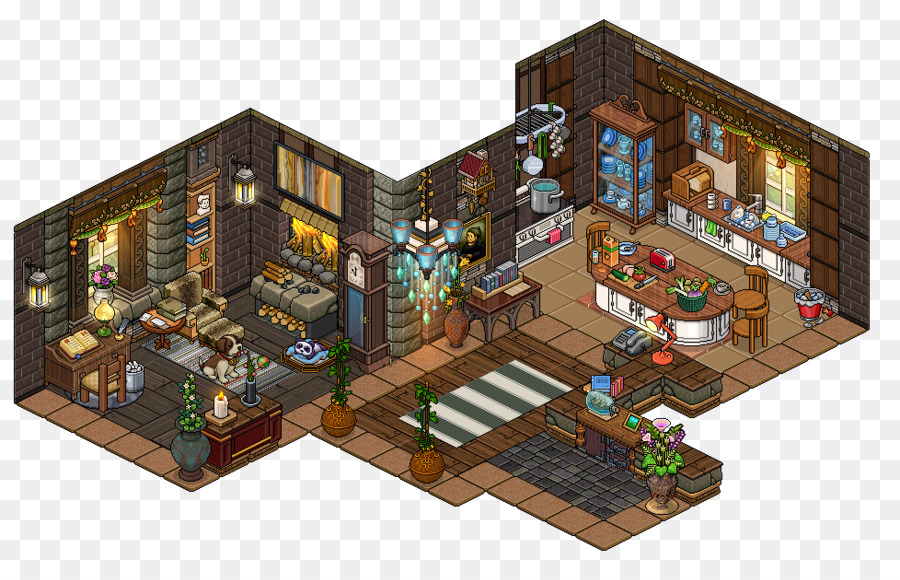 habbo youtube room house game bathroom interior png download 978