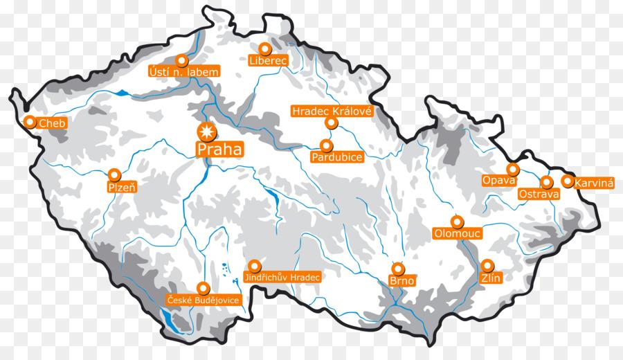 Prag Karte Tschechien.Tschechische Republik Vektor Karte Clipart Prag Png Herunterladen