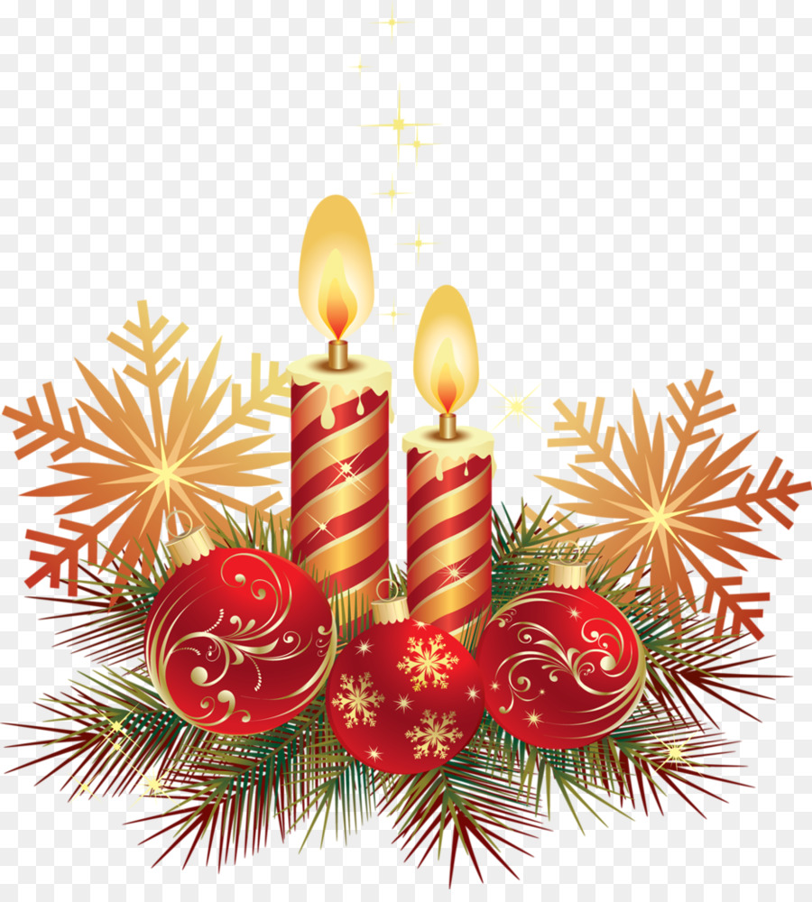 Christmas Tree Candle New Year Decorations Png Download 935 1024