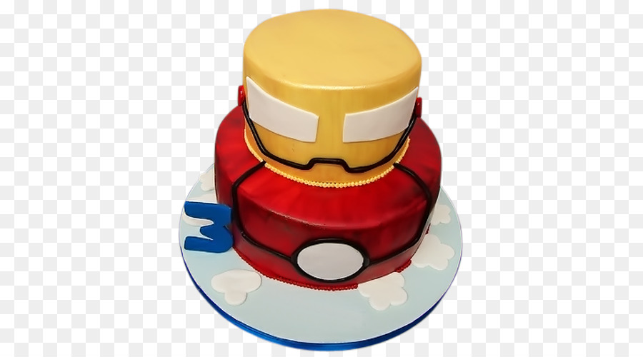 Iron Man Birthday Cake Decorating Dessert PNG