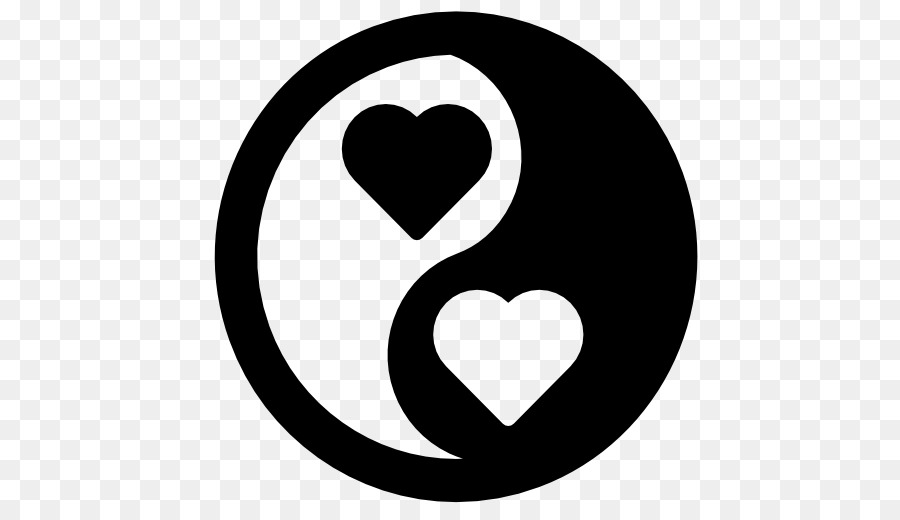 Heart Yin And Yang Yin Yang Fish Computer Icons Yin Yang Png