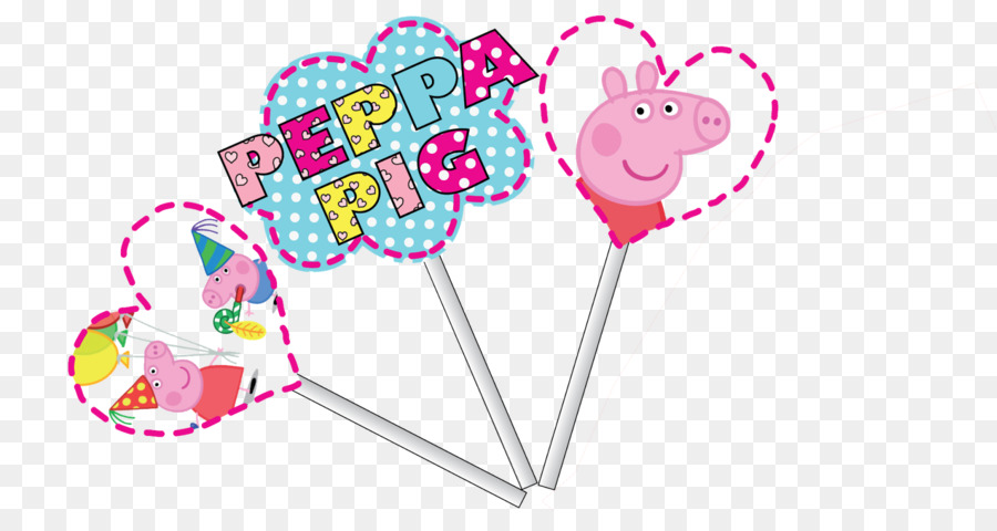 Pink M Party Heart Peppa Pig Font   PEPPA PIG