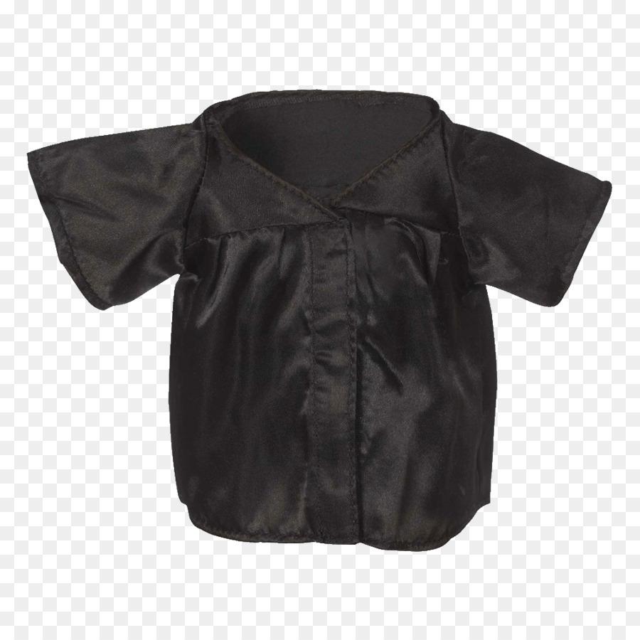 Sleeve Blouse Jacket Neck Black M - graduation gown png download ...