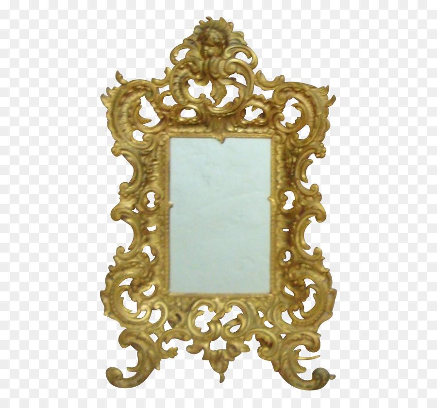 Espejo De Marcos De Cuadros Antiguos De La Luz De Latón - Bronce png ...