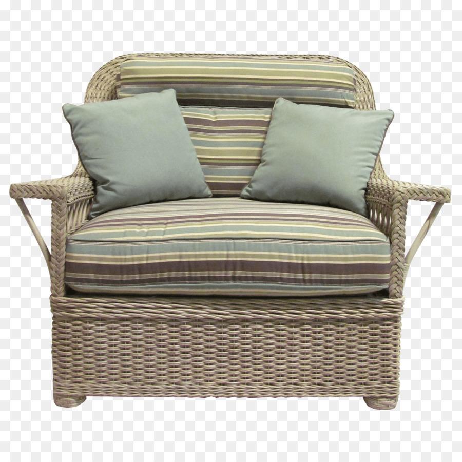 Wicker Chair Couch Cushion Furniture   Ottoman