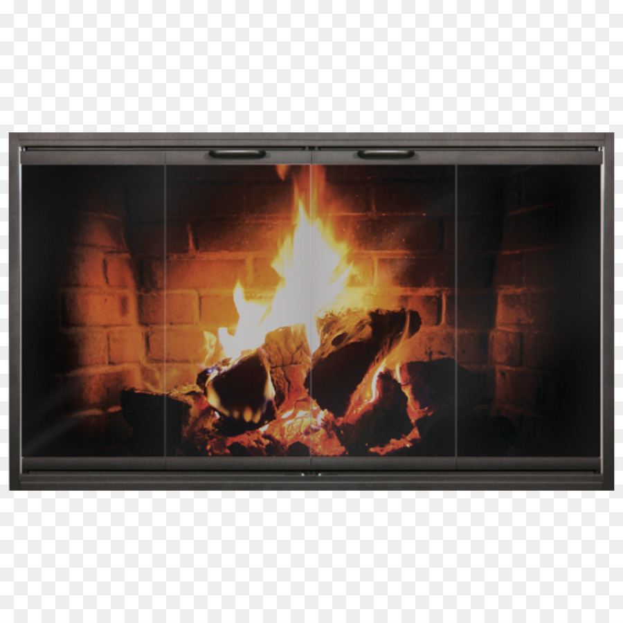 Fireplace Insert Sliding Glass Door Chimney Png Download 1200