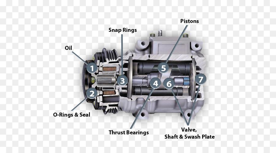 Air Compressor Car: Car Automobile Air Conditioning Compressor Vapor
