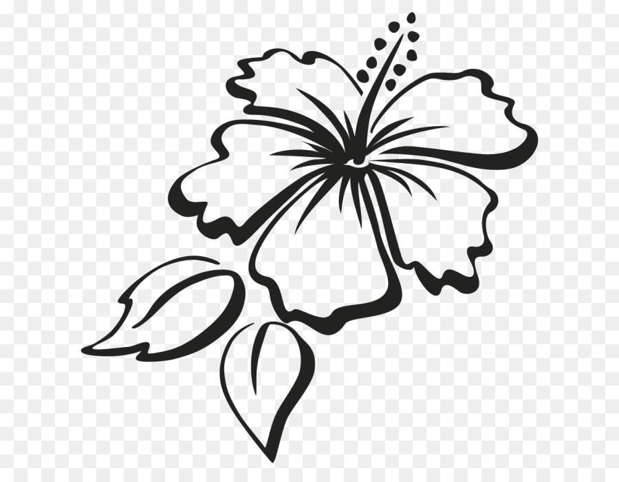 Hibiscus Flower Sticker Clip Art Hawaii Flower Png Download 700